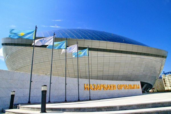 Astana National Library -front side construct of aluminum wall panels