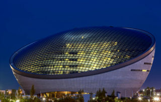 Astana National Library -night scene