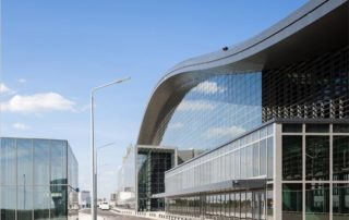Astana Nurly Zhol Station construct of aluminum honeycomb panels