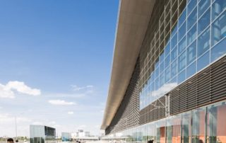 Astana Nurly Zhol station soffit construct of aluminum wall panels