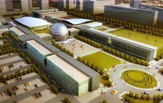 Kazakhstan National Defense University bird view