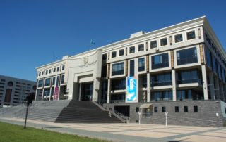 National Academic Library of The Republic of Kazakhstan - construct of aluminum wall panels