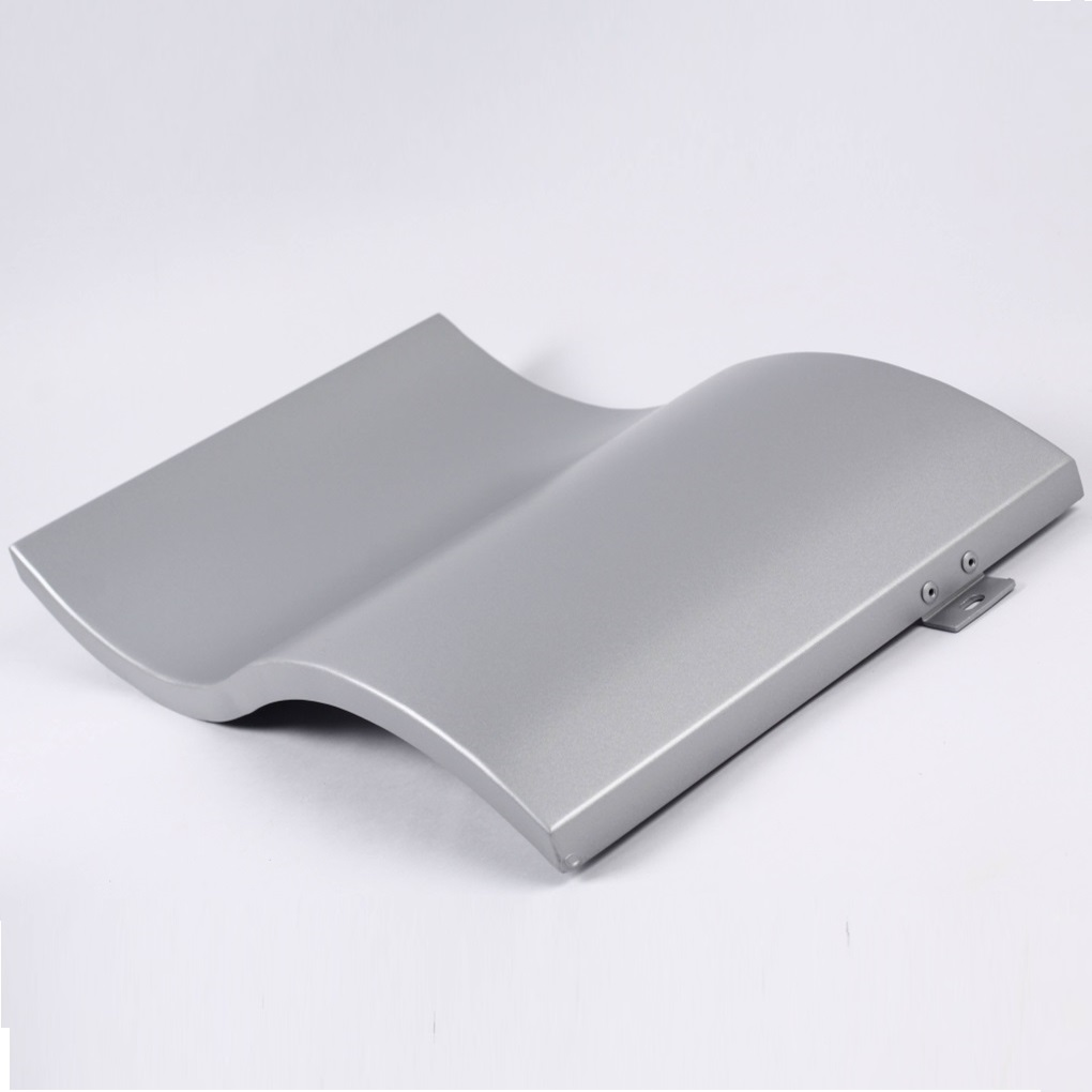 aluminum double curved panels for exterior facade