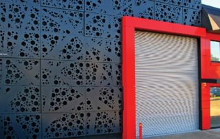 aluminum perforated panels for wall decorative of shop