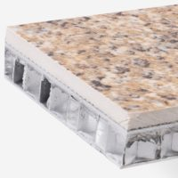stone veneer aluminum honeycomb panels -granite